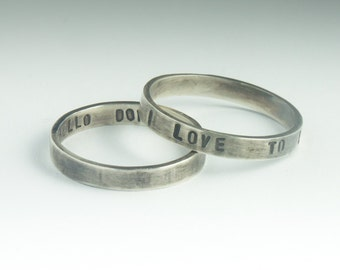 personalized jewelry - Hand Stamped Custom Ring with Your text