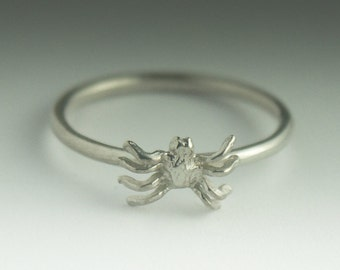 Spider Ring, Sterling Silver Stacking Spider Ring, Spider Ring Silver, Stacking Ring, Spider Jewelry, Dainty Spider Ring, Silver Spider Ring