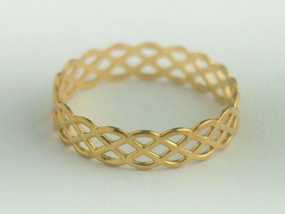 CUSTOM for Andrea Celtic Gold Plated Ring