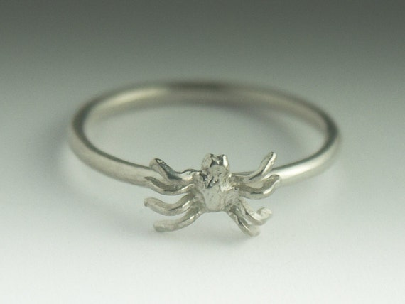 Spider Ring - Sterling Silver Stacking Spider Ring