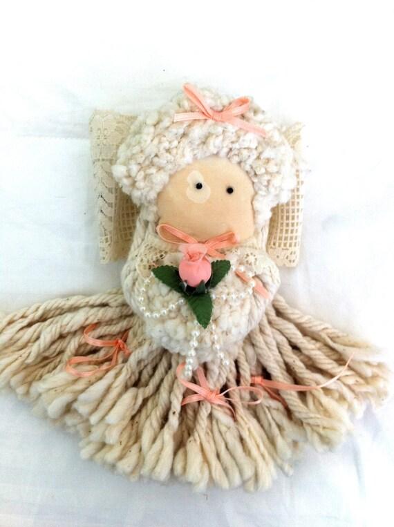 Angel Doll ,Cloth, Vintage Mop Doll