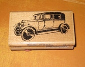 Vintage Car Rubber Stamp by Stampabilities