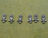 Set of Reversible Owl on Branch Charms (6)
