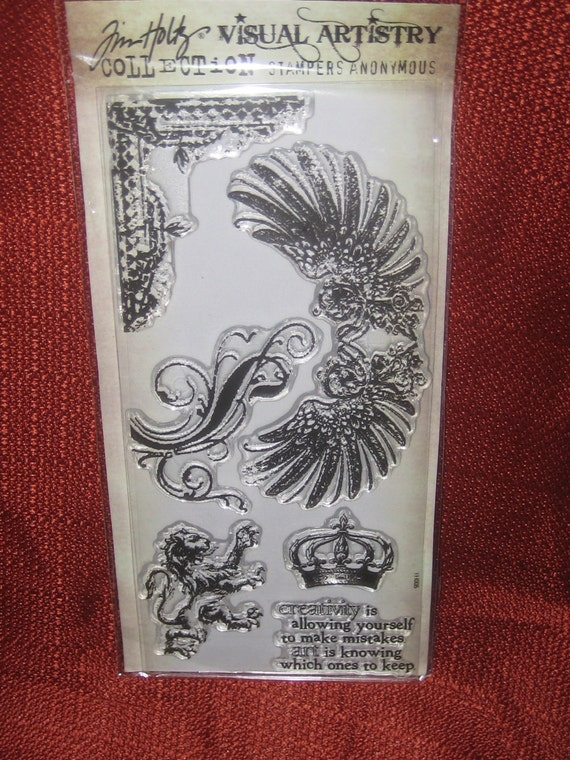 Regal Flourish Clear Stamp Set by Tim Holtz for Stampers Anonymous