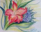 Original Brilliant Pastel Flowers