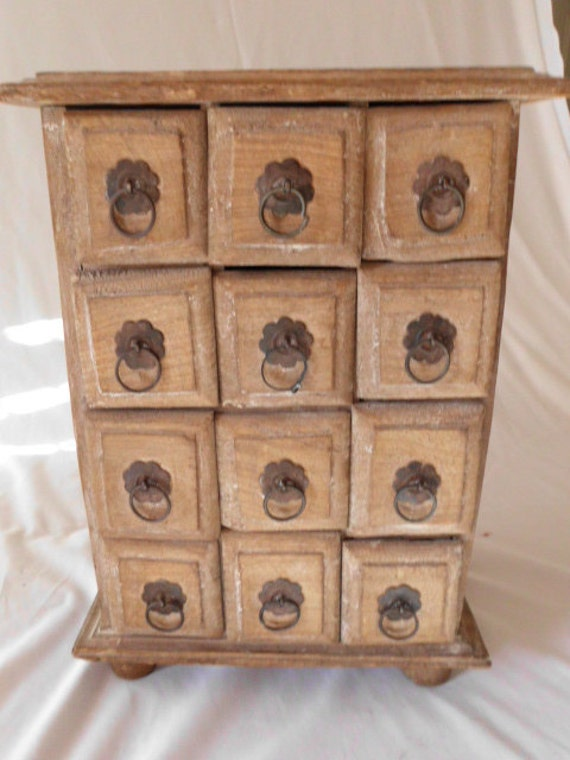 Country Cottage 12 DRAWER WOOD CHEST