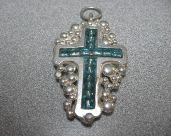 Cross-Silver Beaded