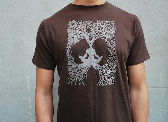Mens  2XL / XXL / 2X  Meditation t-shirt,  Organic Cotton