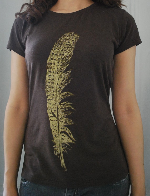 Feather t-shirt  - Bamboo and Organic Cotton - Womens Extra Large