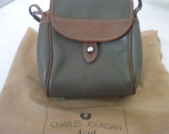 CHARLES JOURDAN Cross Body Shoulder Bag Brown/Beige/Gray Made in Japan Vintage Pre-owned