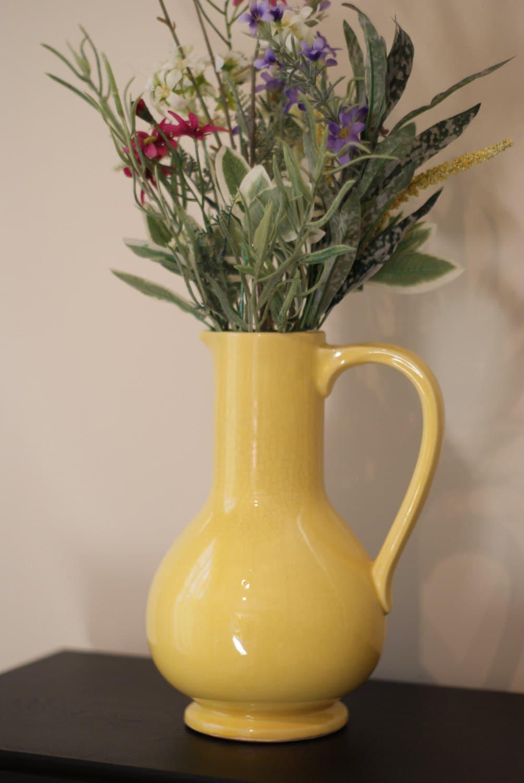 vintage yellow mccoy vase urn thought
