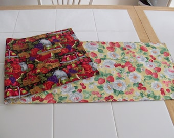 Fruits and Blooms Reversible Table Runner