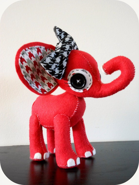 RESERVED-Aly Bama the Handmade Univ of AL-Inspired Elephant Plush Toy Decoration