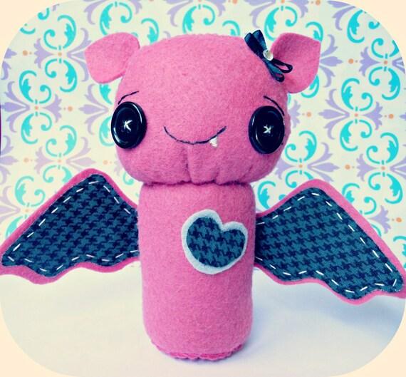 Tabitha the Cute Bat Handmade Toy Plush Decoration