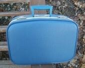 Blue Small Suit Case 1970s