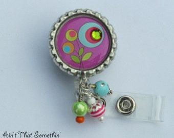 Pocketful of Posies Retractable Badge Reel - Flower Badge Reel - Designer Badge Clips - Cute Badge Holders - Fun ID Reels - Diva Badge Reels