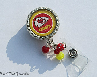 Kansas City Chiefs Inspired Retractable Badge Reel