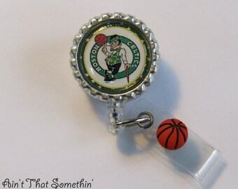 Boston Celtics Inspired Retractable Badge Reel