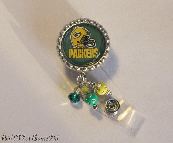 Green Bay Packers Inspired Retractable Badge Reel
