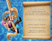 Print Your Own Invitation - Tangled