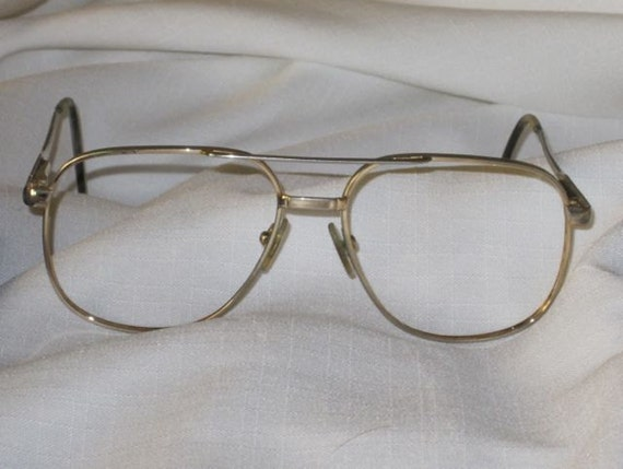 Eyeglass Frames Aviator Gold by AlvetaVintageItems on Etsy