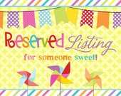 Reserved Listing for Hiu