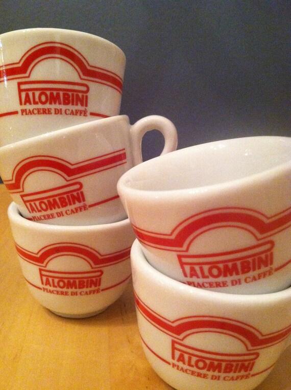 Espresso Cups Coffee Palombini Italy Vera Cafe Coffeeshop