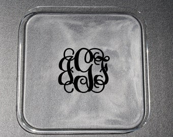 Square Personalized Acrylic Serving Tray