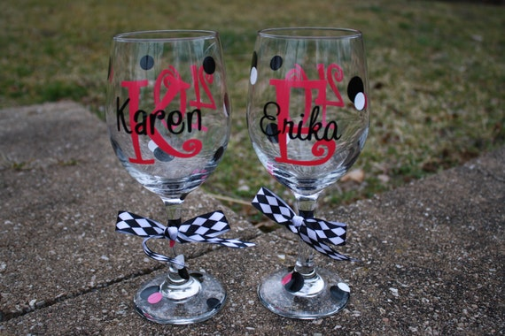 RESERVE for--(cwelch0609-- Personalized Wine Glass - Special Birthday, 21, 30, 40, 50, Bachelorette or Bunco Party