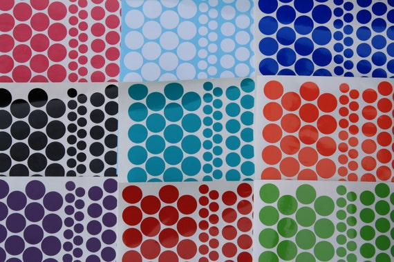 "Reserve for --lasektr---DIY Vinyl Polka dots  20 (1""dots),  28 (3/4"" dots), 26 (1/2"" dots)---- Vinyl polka dot"