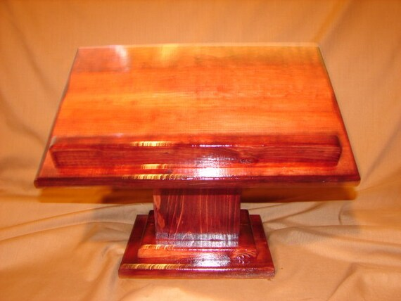 Wooden Bible Stand ~ Bookstand desk podium wooden book stand lectern bible textbook