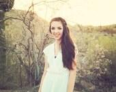 SALE// White Dress/ Criss Cross Dress/ Size 7/8/SM MED