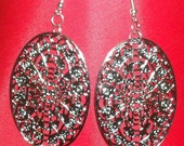 Silver Filigree Dangles was 6.00 now 1.00 SALE