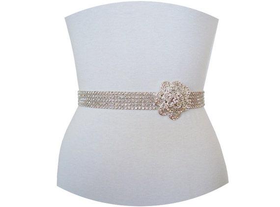 ROSENDA - Elegant Vintage Inspired Luxe Bridal Couture Crystal Rhinestone Sash