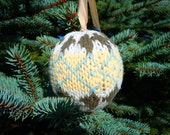 6 pack - Fair Isle Knit Sweater Ornaments