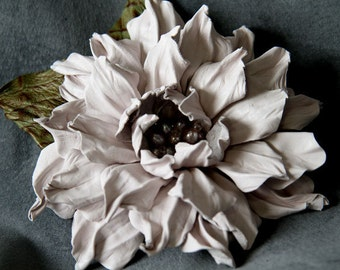 Leather flower brooch art.V5R76req43452