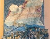 A5 Stormy Sea interpretation on canvas ORIGINAL