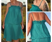 On HOLD for Mindy Green pleated Dress