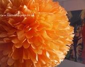The North Pom Extra Large paper pom pom in Orange