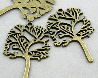 Tree Charms Antique Bronze 2pcs pendant beads 29X44mm CM0062B