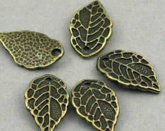 Leaf Charms Antique Bronze 12pcs pendant beads 9X16mm CM0116B