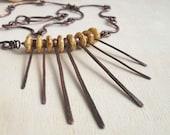 Statement Necklace Boho Jewelry Bohemian Jewelry Handmade Ethnic Gypsy Jewelry Copper Necklace One Of A Kind