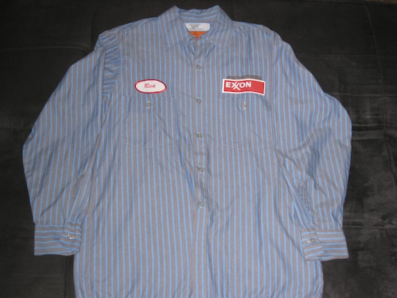 Vintage 1970s Exxon Gas Station Work Shirt