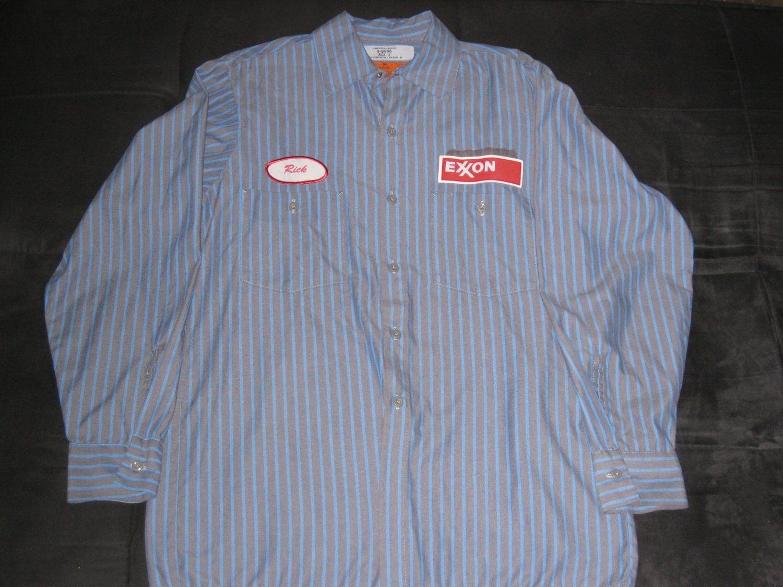Vintage 1970s Exxon Gas Station Work Shirt