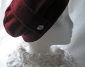 candy dark cranberry slant hat