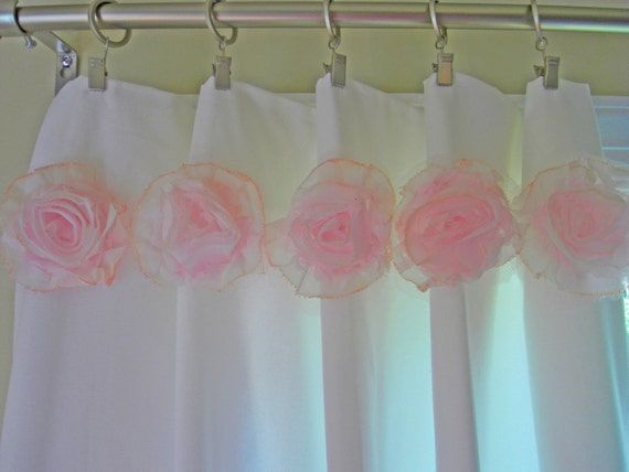 Shabby Chic Flowers For Curtains Baby Nursery By Nikipfeiffer