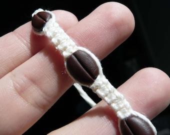 Coffee Bean Adjustable Bracelet