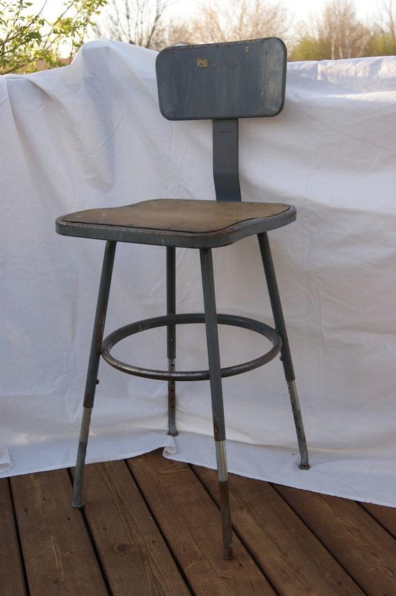 Vintage Factory Industrial Stool Chair