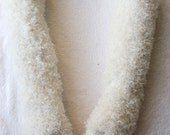 Arm Warmers Ivory/Cream Poodle Fur Gorgeous To Die For