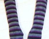 Handmade Arm Warmers Fingerless Gloves Blue Grey Black Pinky Purple Emo Lolita